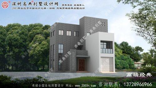 响水县新现代三层别墅的外观设计图带车库