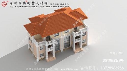 宿豫区豪华气派的欧式风格三层双拼别墅设计图