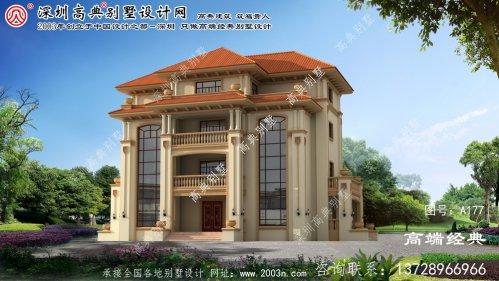 惠山区四层乡村别墅的设计外观时尚,布局经典