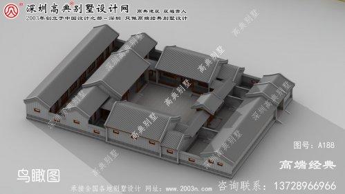 北塘区引人注目的传统北京四合院院子别墅