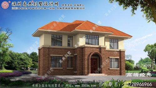 滨江区带庭院农村别墅设计图