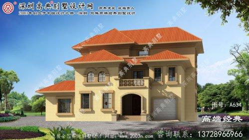 固镇县三层经典大气别墅设计图纸
