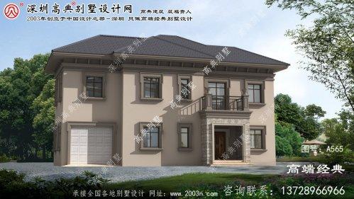 歙县二层别墅设计图纸