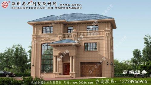 赵县农村小别墅设计图三层