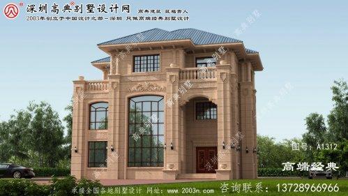 平山县农村小别墅设计图三层