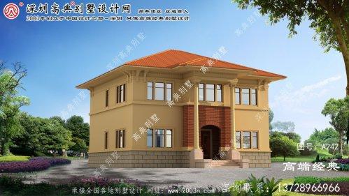 松北区农村房子两层设计图