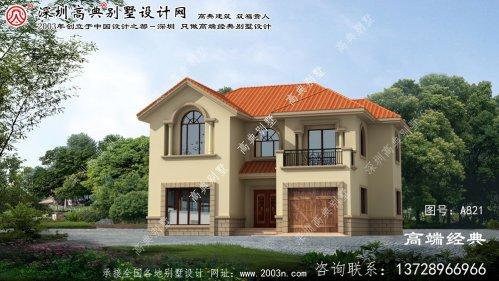 南乐县二层别墅房屋设计图
