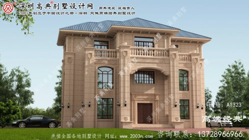 香洲区欧式石材别墅图纸