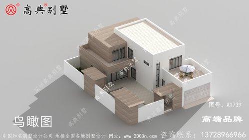 自建房外观设计图整体造型简约为主