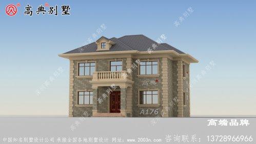 农村房屋顶设计色调为高级的灰棕