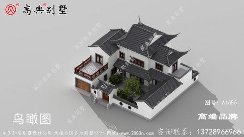 农村房屋设计效果图大气素雅的中式庭院风格