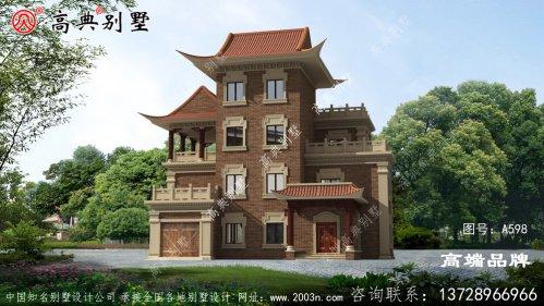 农村自建房四层图纸豪宅既视感