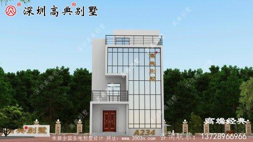 简单大气三层别墅设计图,看完我也想回家建房