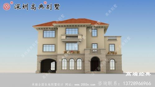 实力派 三层别墅设计图,细节讲究,造型雅致