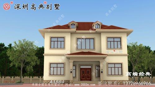 乡村 小二楼别墅设计图纸,款款 挑起 起居室 ,大气 舒适 。