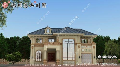 二层欧式别墅设计图,外观造型优雅,室内布局合理
