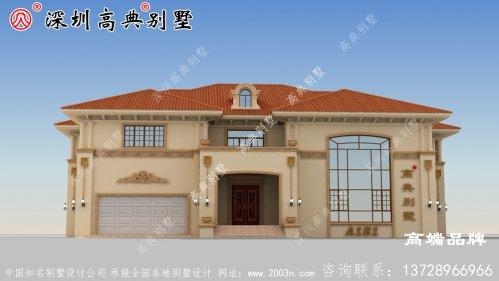 二层豪华别墅,农村自建房图,宅基地大的不这样建就可惜了