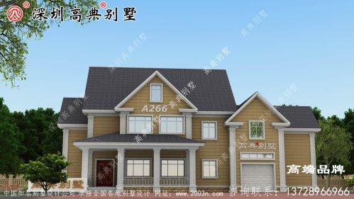 二层小别墅设计图,搭配清新优雅,户型设计十分漂亮。