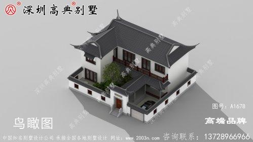 二层农村小别墅设计图,户型时尚,符合农村环境