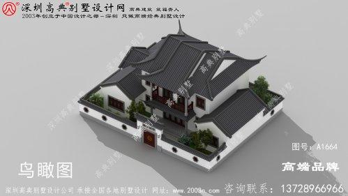 新中式 二层别墅 ,外观 造型 错落有致 ,低调奢华有内涵 。