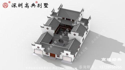三层乡村别墅外观图,经济实用才是关键,建房